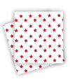 White with Red Star Napkins