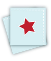 Blue with Red Star Napkins