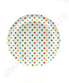 Polkadot Multi-Coloured Party Plates