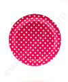 Polkadot Raspberry Pink Round Party Plates