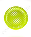 Polkadot Lime Round Party Plates